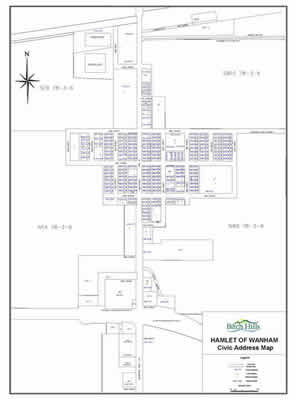 Wanham Civic Address Map